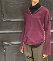 Patchwork pullover blouse