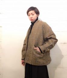 Big silhouette zip short coat
