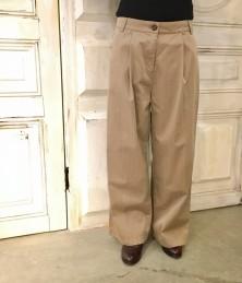 Pin striped wide pants