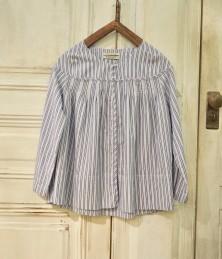 Madras striped blouse