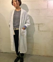 Linen long cardigan