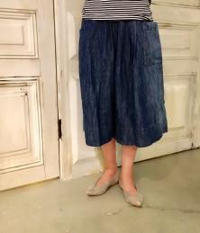 Linen denim Gaucho pants