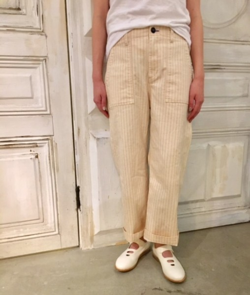 Pin striped work pants