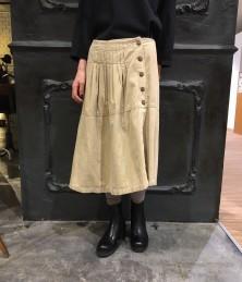 Corduroy deformation skirt