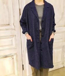 Denim dot coat