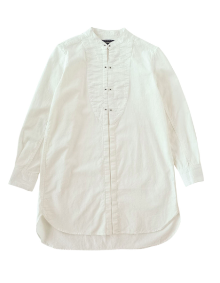 Stand collar long shirt