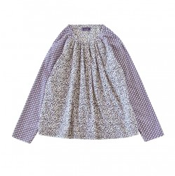 Raglan sleeve floral blouse