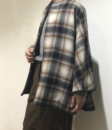 Check × Muji short coat