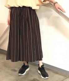 Striped gathered skirt