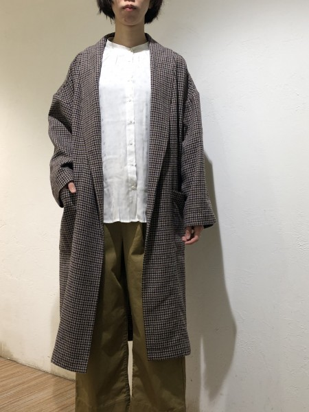 Check gown coat