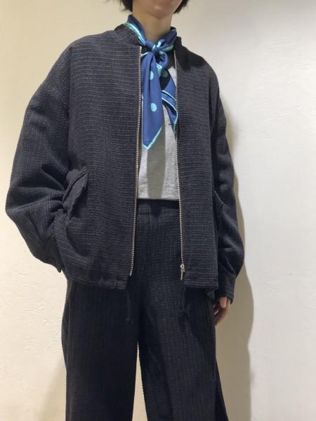 Corduroy zip jumper