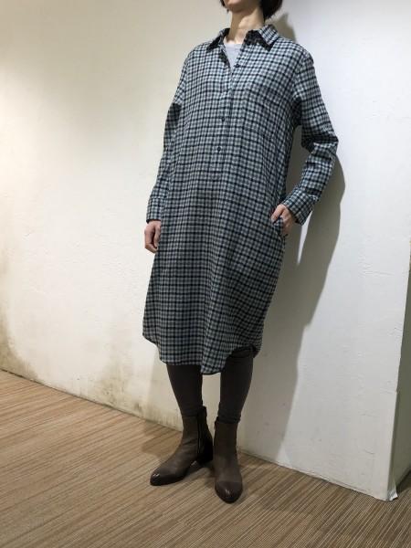 Check pullover dress