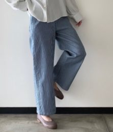 Denim waide pants