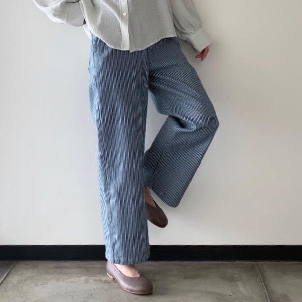 Denim waide pants