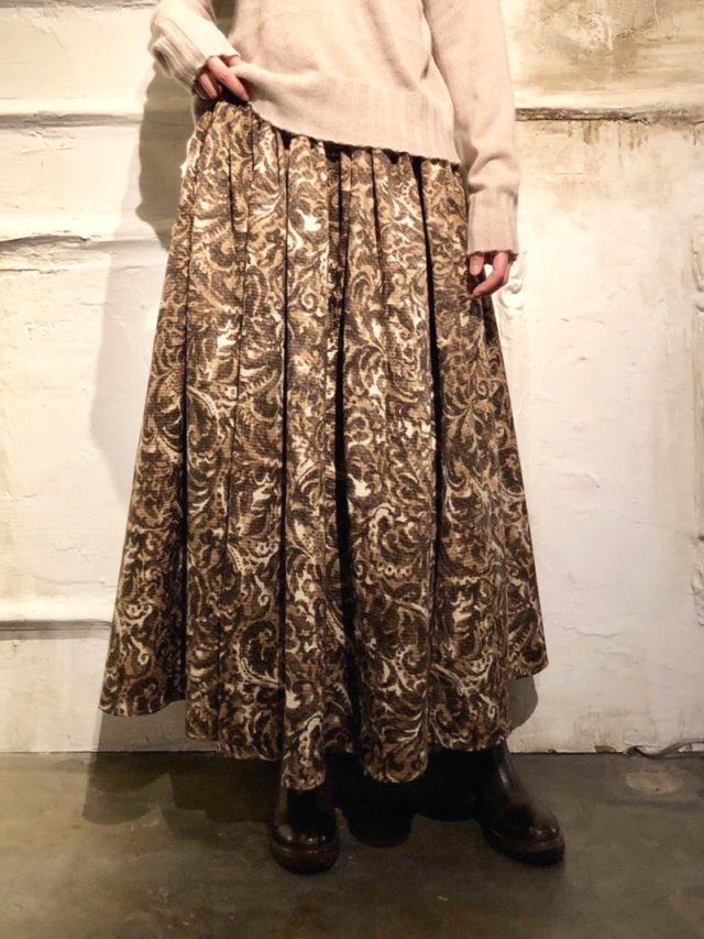 Pattern slit skirt