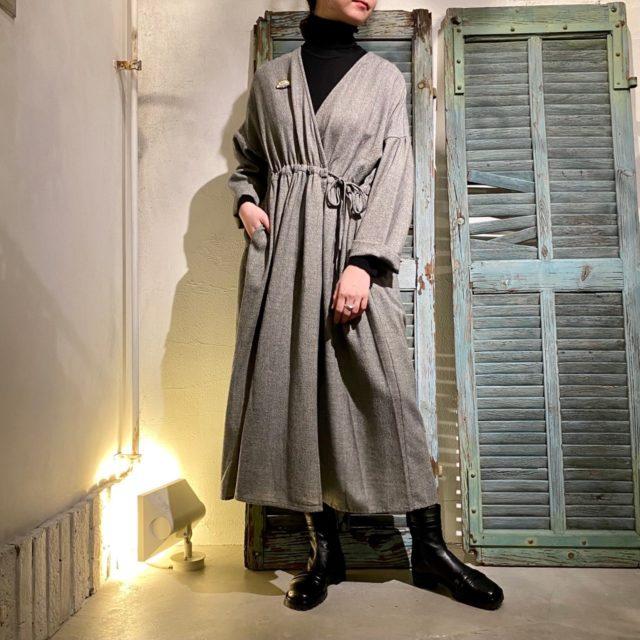 Block check coat dress