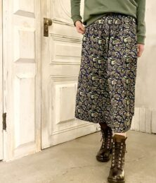 African pattern gathered skirt
